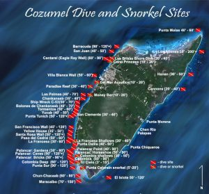Cozumel reef map