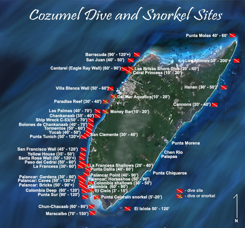 Cozumels Dive Sites Maple Leaf Scuba Dive Shop