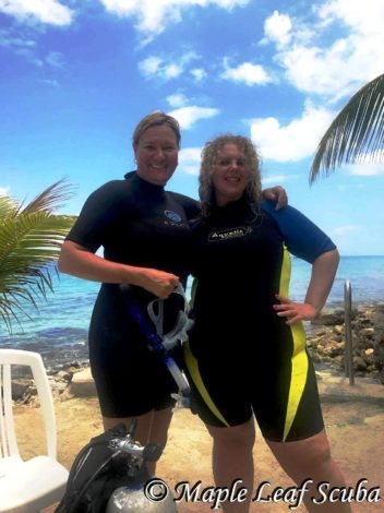 PADI Open Water certification obtained at Tekila Beach in Cozumel with Maple Leaf Scuba