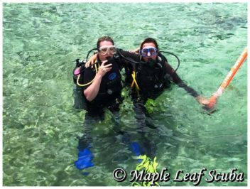 PADI Discover Scuba class in Cozumel at Maple Leaf Scuba