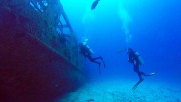 Ship Wreck C-53 Felipe Xicotencatl in Cozumel, Mexico