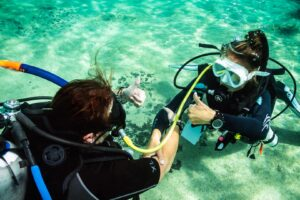 Training dives in Cozumel