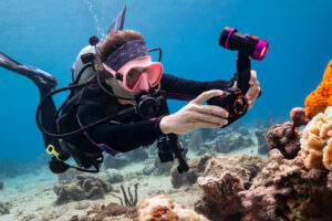Diver with Sealife Camera