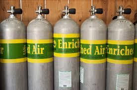 Enriched Air Nitrox scuba tanks